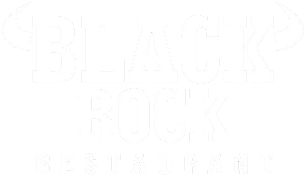 Black Rock Restaurant White Logo transparent background